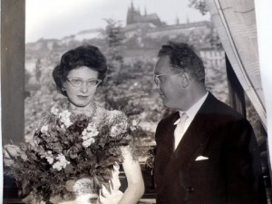 Viktor and Zuzana after a concert in 1960.