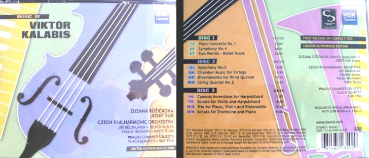 Box Set - Limited Authorized Edition - Executive Producer John Solum. MSR Classics Orchestral, Concerto, Ballet, Chamber & Solo
